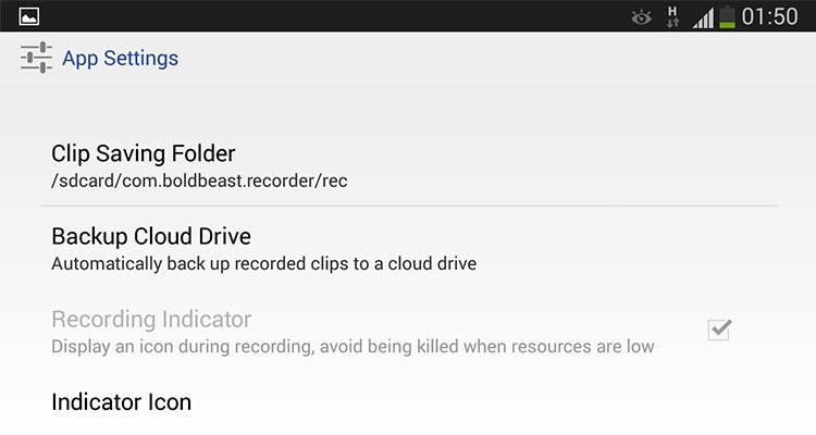 Configuración aplicación para grabar llamadas en android