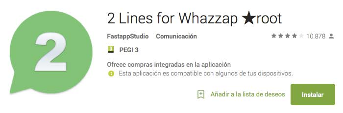 2 Lines for Whazzap