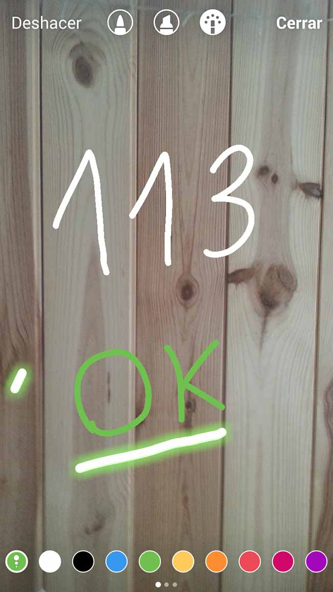 números en instagram